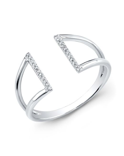 Anne Sisteron | Metallic 14kt White Gold Diamond Space Ring | Lyst