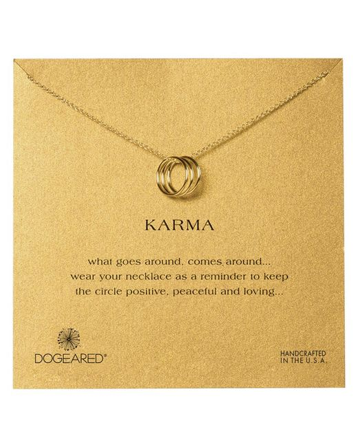 Dogeared | Metallic 14ct Gold Plated Triple Karma Ring Necklace | Lyst