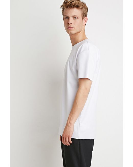 Forever 21 | White Raw-cut Tee | Lyst