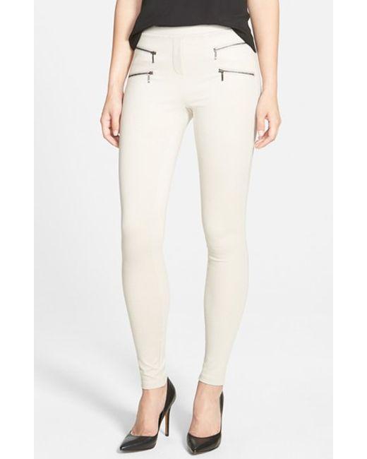 NIC+ZOE | Metallic Zip-Detail Ponté-Knit Pants | Lyst