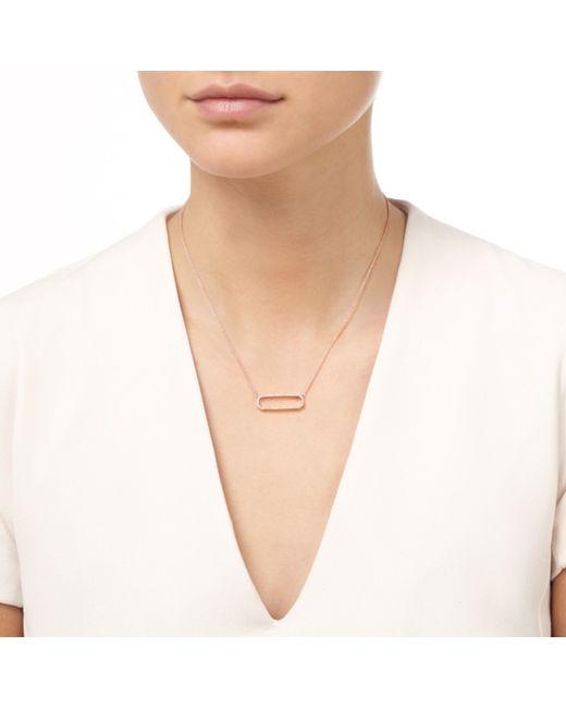 Monica Vinader | Metallic Naida Rectangle Open Necklace | Lyst