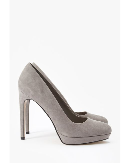 Forever 21 | Gray Faux Suede Pumps | Lyst