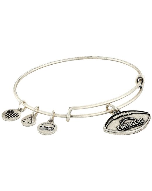 ALEX AND ANI | Metallic Nfl San Diego Chargers Football Bangle | Lyst