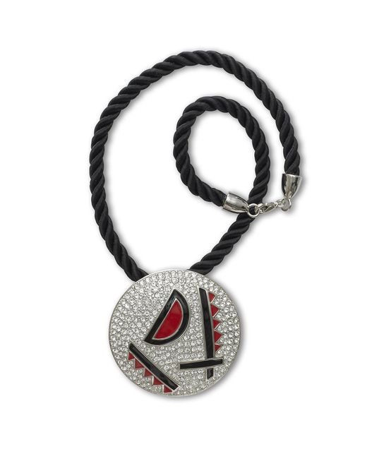 Kenneth Jay Lane | Metallic Red And Black Art Deco Necklace | Lyst