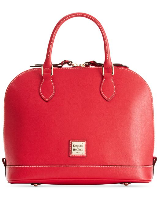 Dooney & Bourke | Red Saffiano Zip Zip Satchel | Lyst