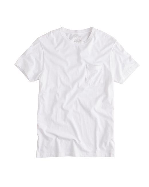 J.Crew | White Slim Broken-in Pocket T-shirt for Men | Lyst