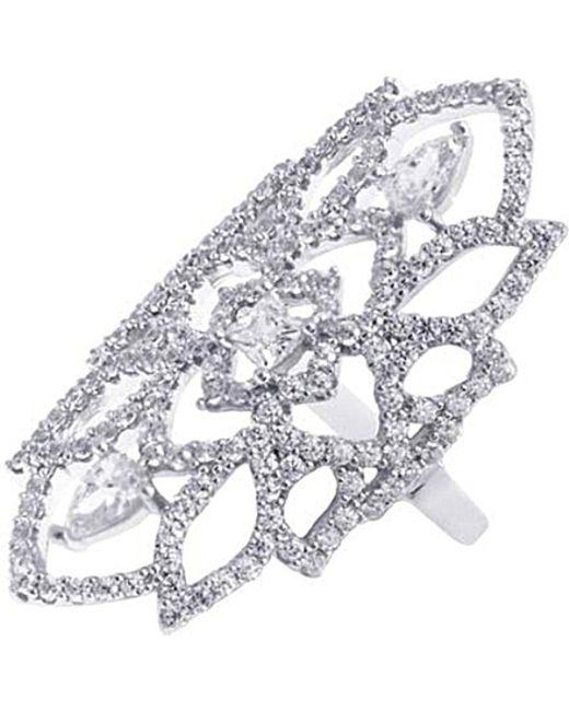 Carat* | Metallic Willa Heroines White Gold Finish Ring | Lyst