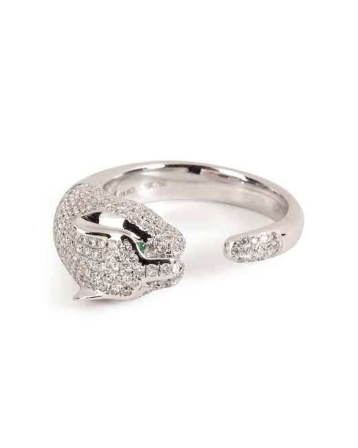 Anita Ko | 18kt White Gold Cougar Ring With Diamonds - Silver | Lyst