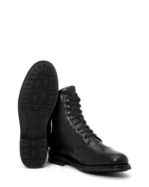 Aquatalia | Black Hugh Shearling-lined Leather Ankle Boots for Men | Lyst
