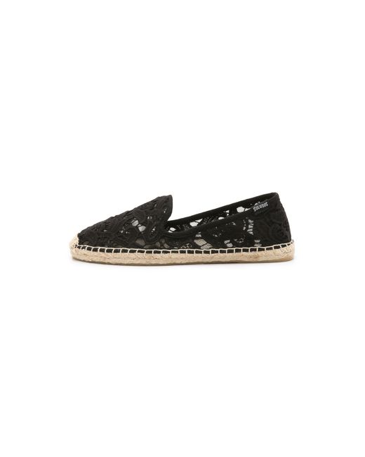 Soludos | Black Tulip Lace Smoking Slipper | Lyst