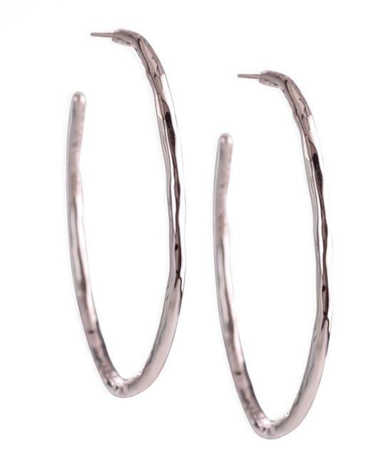 Ippolita | Metallic Silver Squiggle Hoop Earrings | Lyst