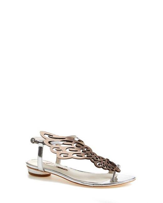 Sophia Webster | Metallic Seraphina Leather Sandals | Lyst