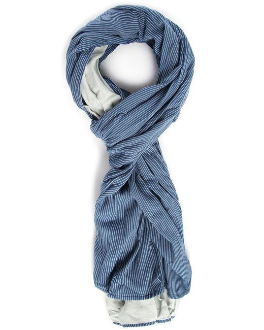 scotch soda indigo scarf with blue stripes in blue for