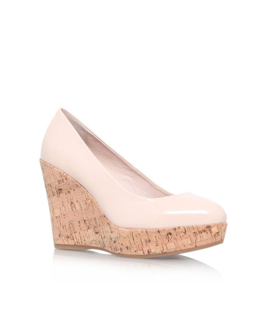 Carvela Kurt Geiger | Natural Attend High Wedge Heel Court Shoes | Lyst