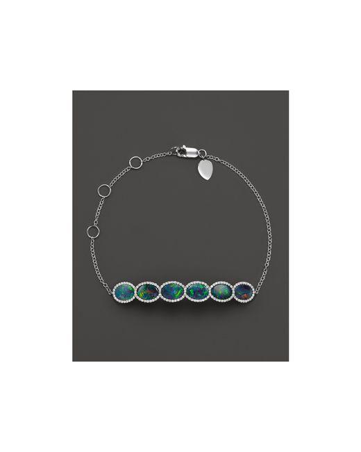 Meira T   Blue 14k White Gold 6 Stone Opal Bracelet   Lyst