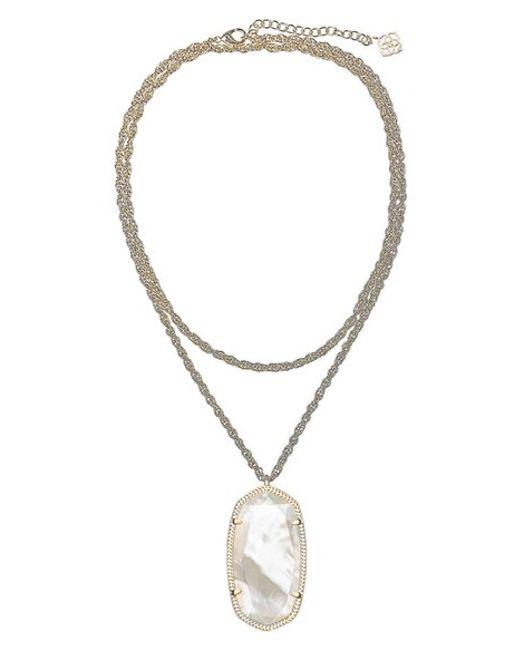 Kendra Scott | White 'dylan' Stone Pendant Necklace | Lyst