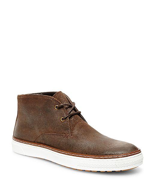 steve madden fedder suede chukka boots in brown lyst