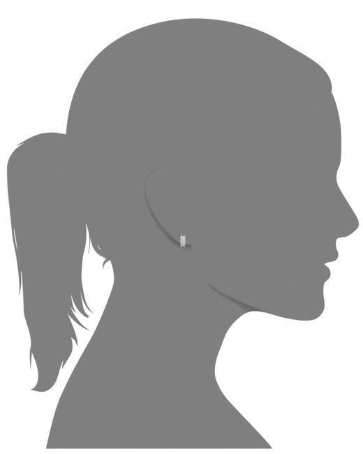 Macy's | Metallic Two-row Diamond Channel-set Hoop Earrings In 14k White Or Yellow Gold (3/8 Ct. T.w.) | Lyst
