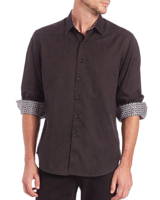 Robert Graham | Black Cullen Cotton Sportshirt for Men | Lyst
