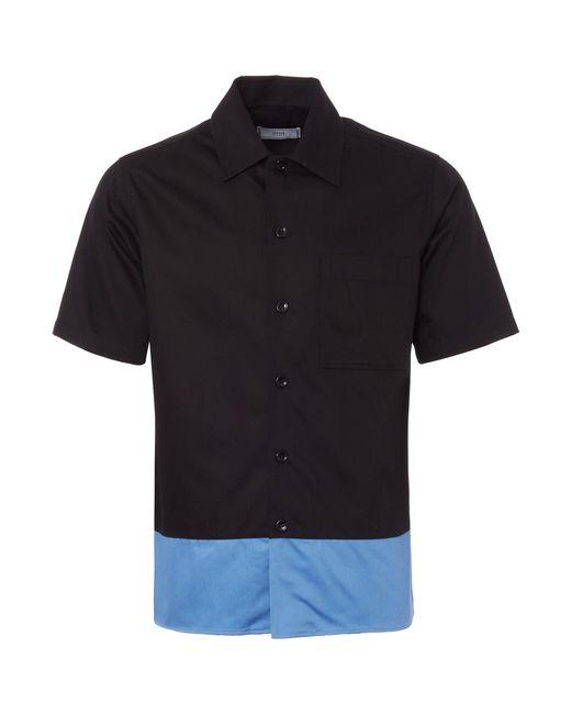 AMI - Black Contrast Short Sleeve Shirt for Men - Lyst
