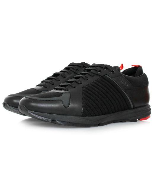 HUGO | Hugo Boss Hybrid Runn Black Shoes for Men | Lyst
