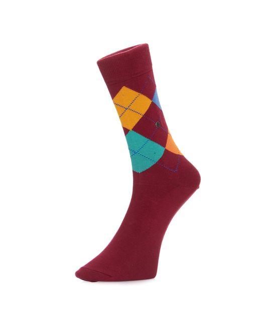 Burlington Socks | Purple Burlington King Argyle Burgundy Green Socks 21020 | Lyst