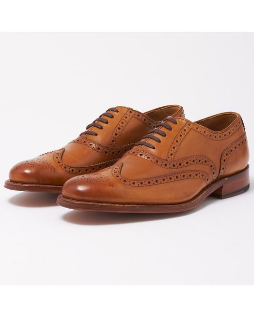 GRENSON - Multicolor Dylan Tan Brogue Leather Shoe for Men - Lyst