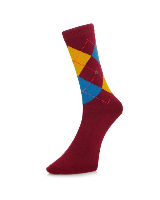Burlington Socks | Multicolor Burlington King Argyle Burgundy Socks 21020 8371 | Lyst