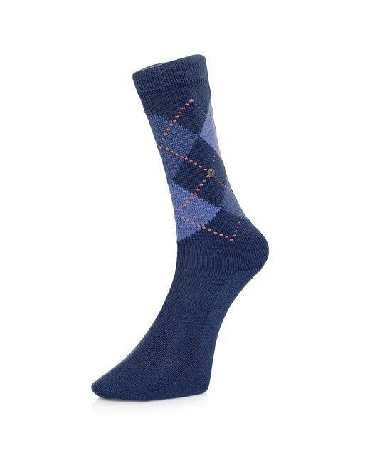 Burlington - Burlignton Preston Argyle Blue Socks 24284 for Men - Lyst