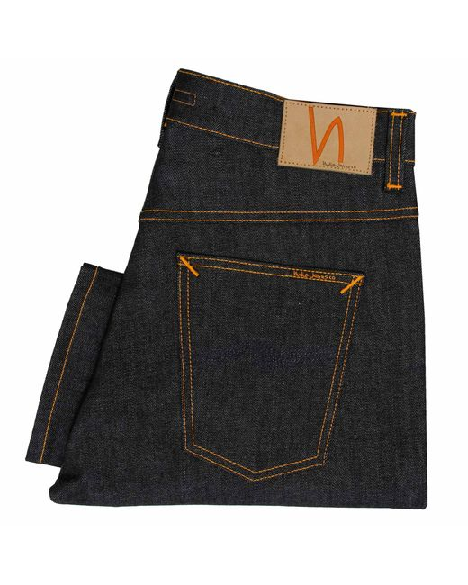 Nudie Jeans | Blue Brute Knut Dry Navy Comfort Denim Jeans 112008 for Men | Lyst