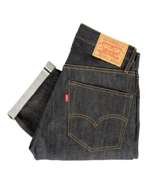Levi's | Blue Levis Vintage 1967 - 505 Rigid Pre-shrunk Dark Indigo Jeans for Men | Lyst
