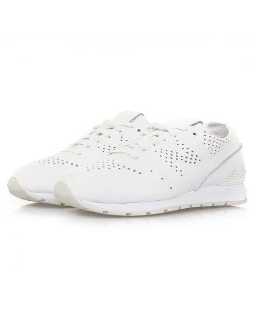 New Balance - Re-engineered 996 White Leather Shoes Mrl996dt for Men - Lyst