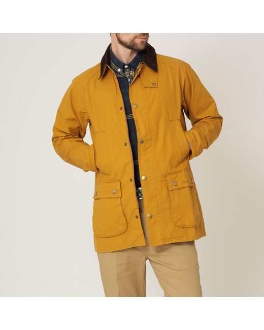 Barbour - Yellow Washed Bedale for Men - Lyst