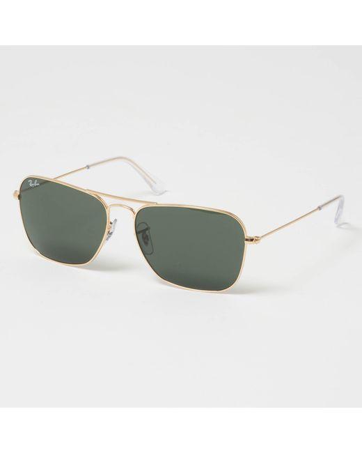 7bdaf9c621 Lyst - Ray-Ban Caravan Sunglasses - Green Classic G-15 Lenses in ...