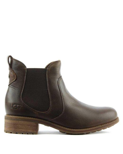 Ugg | Brown Bonham Stout Leather Chelsea Boot | Lyst