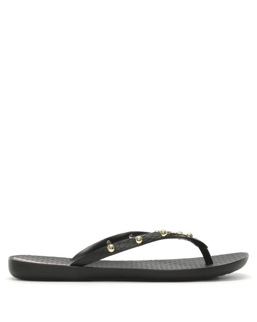 Ipanema - Wave Hits Black Studded Flip Flops - Lyst