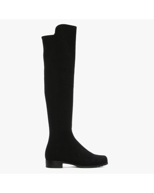 Stuart Weitzman - 5050 Black Suede Knee High Boots - Lyst