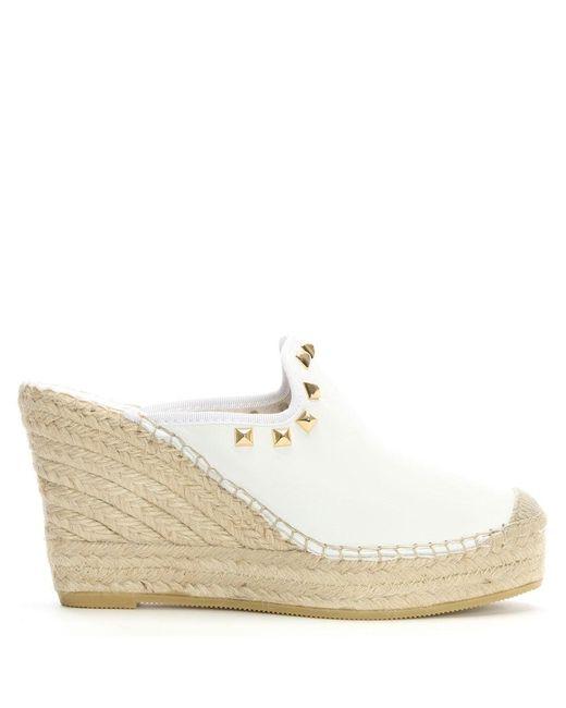 Lyst Daniel San Juan White Leather Studded Closed Toe