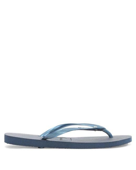 Havaianas - Seasons Navy Blue Diamante Flip Flops - Lyst