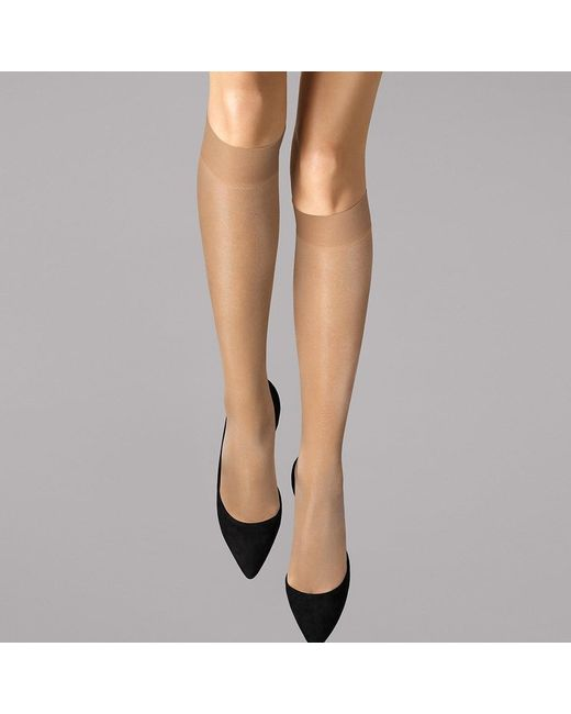 f22033e07cb0c Wolford - Multicolor Satin Touch 20 Gobi Knee Highs - Lyst