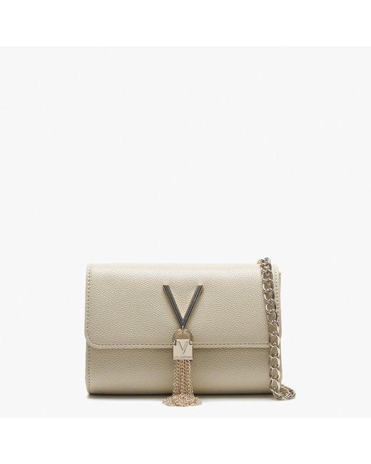 Valentino By Mario Valentino - Natural Divina Beige Pebbled Shoulder Bag - Lyst