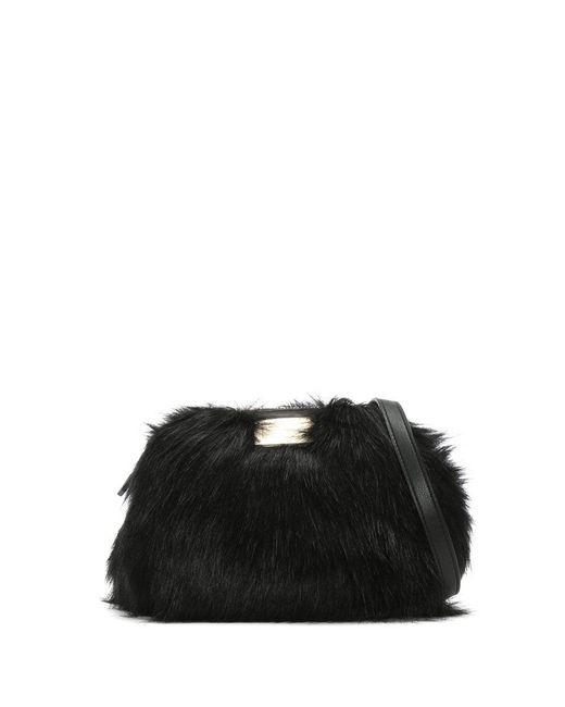 Emporio Armani - Furry Sling Black Faux Fur Cross-body Bag - Lyst