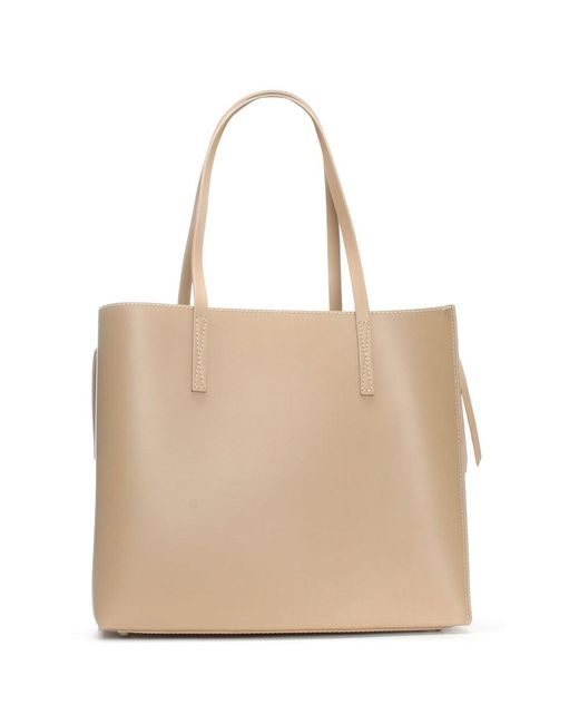 Daniel | Natural Shore Beige Leather Unlined Tote Bag | Lyst