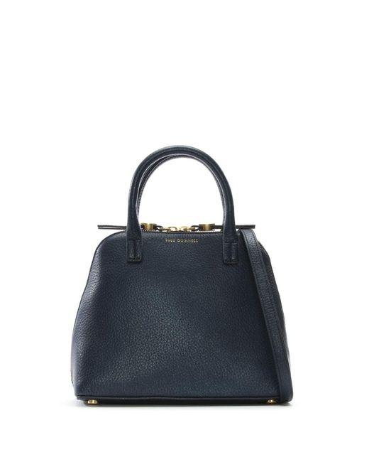 Lulu Guinness | Blue Small Navy Grainy Leather Bobbi Cross-Body Bag | Lyst