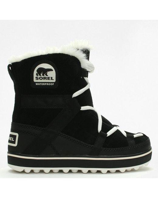 Sorel - Black Glacy Explorer Shortie Waterproof Winter Snow Boots - Lyst