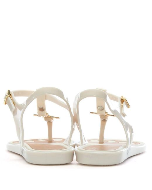 f246ece720bcae ... Vivienne Westwood - White X Melissa Solar Orb Ivory Toe Post Sandals -  Lyst