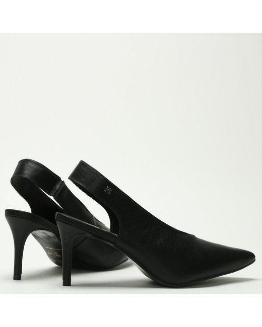 0fb6799eb3c ... Daniel Footwear - Black Leather Sling Back Court Shoes - Lyst ...