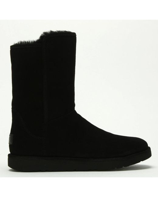 Ugg - Abree Short Ii Black Suede Ankle Boots - Lyst