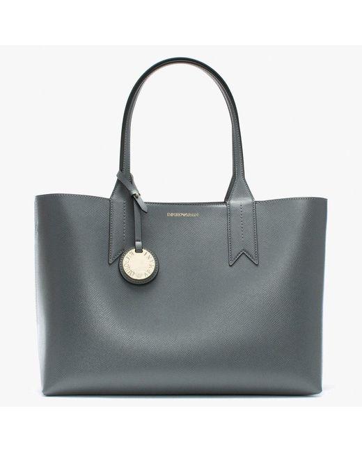 Emporio Armani - Gray Frida Grey Textured Shopper Bag - Lyst ... 324cb25449f2f
