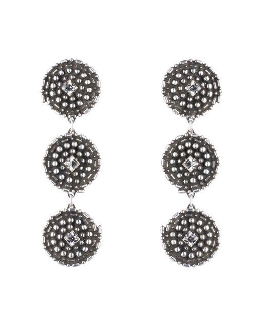 DANNIJO | Metallic Rossi Crystal Drop Earrings | Lyst